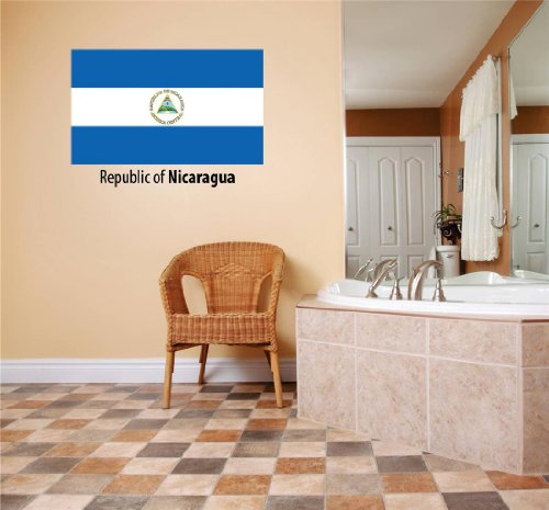 Decals & Stickers : Republic Of Nicaragua Flag Country Pride