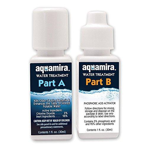 Aquamira - Chlorine Dioxide Water Treatment Two Part Liquid - 1 oz Bottles with Dropper Lid