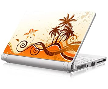 "Funda para portátil de Skin "" verano palmeras 5,08 cm portátil protector de"