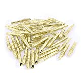 uxcell 49 Pcs Gold Tone Copper Hemihedral 4mm Banana Jack Connector