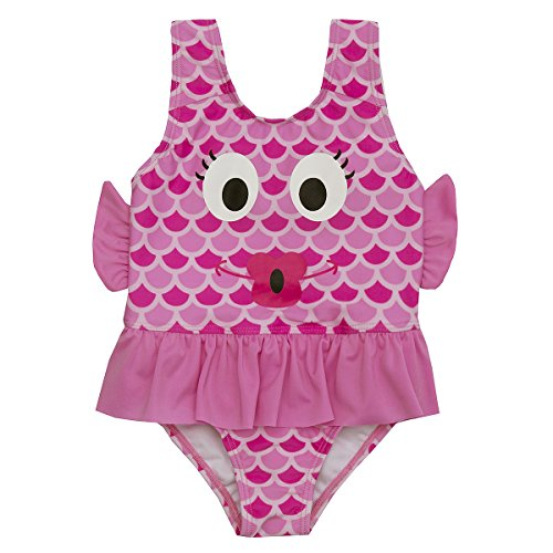 Pool Costume Fish (Minikidz Girls Novelty Animal Themed Swimming Costume Fish 4-5)