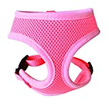 dog harness puppies - FUNPET Soft Mesh Dog Harness No Pull Comfort Padded Vest for Small Pet Cat and Puppy Pink XS