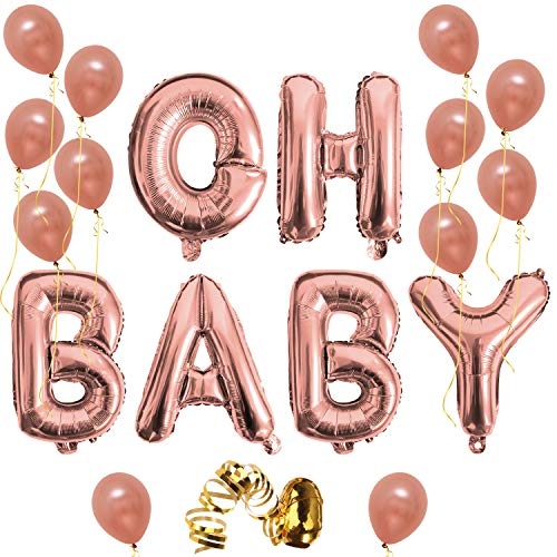 Oh Baby Letter Balloons, Rose Gold Baby Girl/Boy