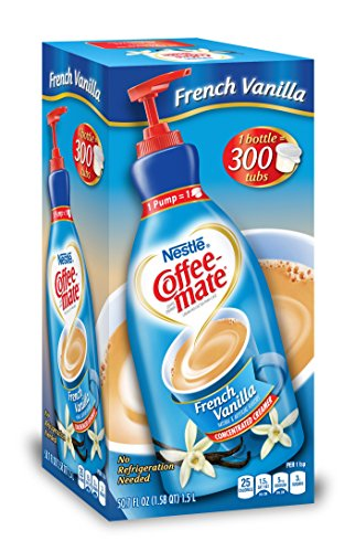 Nestle Coffee-mate Coffee Creamer, French Vanilla, 1.5L Liquid Pump Bottle, Pack Of - French Creamer Coffee Vanilla