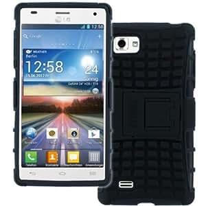 Cerhinu MPERO IMPACT SR Series Kickstand Case for LG Optimus 4X HD P880 - Black