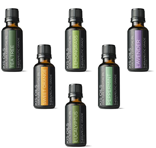 Aromatherapy Top 6 100% Pure Therapeutic Grade Basic Sampler Essential Oil Gift Basic sampler essential oil gift set 6 10ML (lavender, sweet orange, peppermint, lemongrass, tea tree, eucalyptus)
