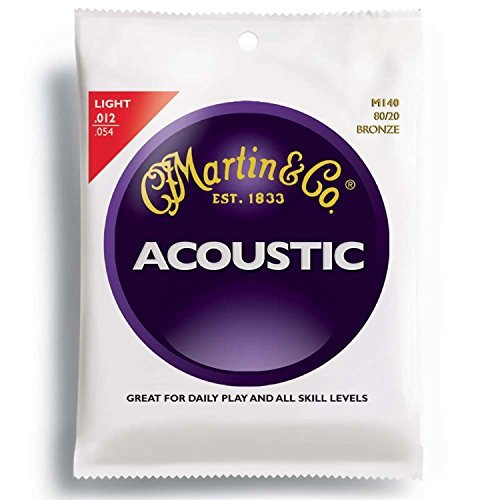 Martin 80/20 Bronze Round Wound Light Acoustic Strings - 3 sets of strings