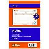 BAZIC 50 Sets 5 9/16'' x 8 7/16'' 2-Part Carbonless Invoice