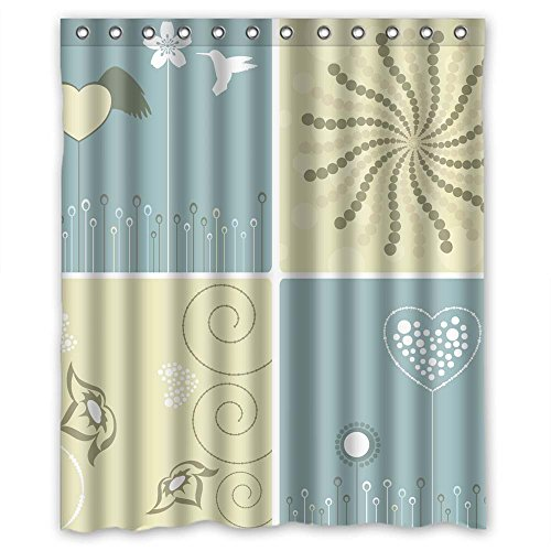 Pelican Eel (MaSoyy Color Block Polyester Shower Curtains Width X Height / 60 X 72 Inches / W H 150 By 180 Cm For Boys Girls Artwork Hotel Gf. Rust Proof. Fabric Material)