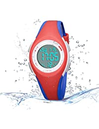 Kids Digital Sport Watch Outdoor Waterproof LED Watchse...
