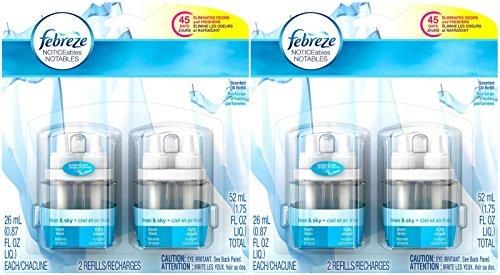 Febreze NOTICEables Air Freshener Refills - Linen & Sky - 26 ml - 2 ct - 2 pk