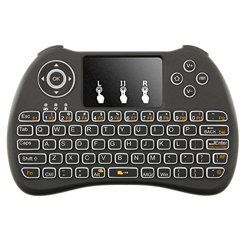 Tritina Wireless Keyboard and Mouse 2.4Ghz Qwerty Touchpad Compatible with android, Windows OS for Pc,Tablet,TV Box,IPTV Built-in Backlight