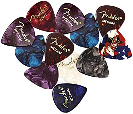 ABALONE 12-Pack 1 Dozen Fender 351 Premium Celluloid Guitar Picks HEAVY