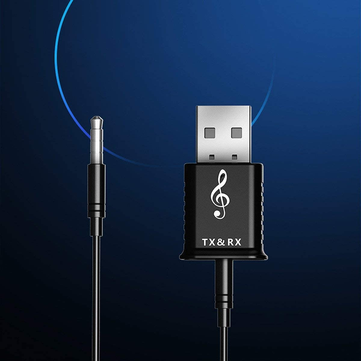 Greatangle 2 en 1 USB 5.0 Adaptador de dongle inal/ámbrico para PC Altavoz Rat/ón de la computadora Audio inal/ámbrico Transmisor de Receptor de m/úsica de Audio