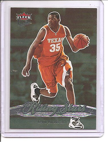 Kevin Durant Seattle Supersonics / Golden State Warriors 2007-08 Fleer Ultra Rising Stars Rookie Basketball Card #RS-1 08 Fleer Ultra Trading Card