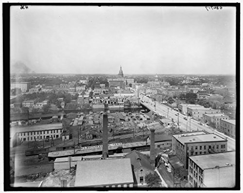 View Photo Birdseye Real - Vintography 8 x 10 Ready to Frame Pro Photo of Birdseye View from Tower Lansing Mich 1913 Detriot Publishing 87a