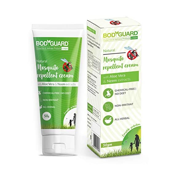 Bodyguard Natural Mosquito Repellent Cream with Aloe Vera and Neem Extracts - 50 g
