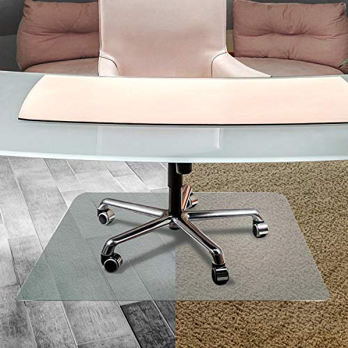 Cleartex UnoMat, Anti-Slip Chair Mat, For Polished Hard Floors/Carpet Tiles, Rectangular, 48