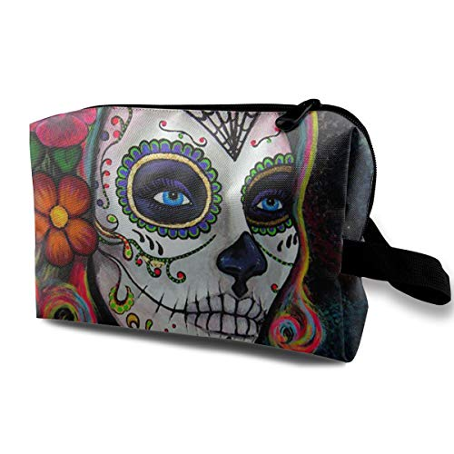Lvxinghzd Sugar Skull Candy Portable Travel Makeup Cosmetic Bags Organizer Multifunction Case Toiletry Bags]()