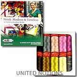 Aurifil Thread FRESH MODERN AND TIMELESS By Victoria Findlay Wolfe 50wt Cotton 10 Small (220 yard) Spools