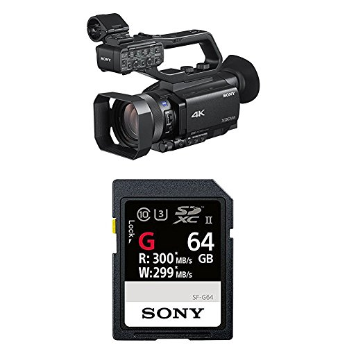 Sony PXW-Z90V 4K HD Compact NXCAM Camcorder with Sony High Performance 64GB Memory Card by Sony