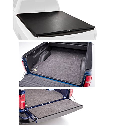 Ford Pickup Bed - Truxedo 1498301 & BedRug BMQ15SBS/BMQ15TG Pro X15 Tonneau Cover & Classic Truck Bed Mat & Tailgate Mat Bundle for 15-18 Ford F-150 w/6.5' Beds & Spray-In/No Bed Liner