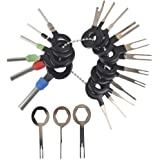 Grosun 36 Pieces Wire Connector Terminal Pins Crimp Connector Pin Wire Harness Terminal Extractor Terminals Removal Tools Extractors Puller Remover Repair Key Tools Set