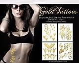 Gold Tattoos 4pk - Shimmer Garden