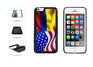 Colombia And USA Mixed Flag Dual Layer Phone Case Back Cover Apple iphone 6 4.7
