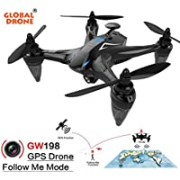 RC Quadcopter, Coerni Follow Me 120° Wide-angle HD Camera 5G WIFI Brushless Motor RC Drone (Blue)