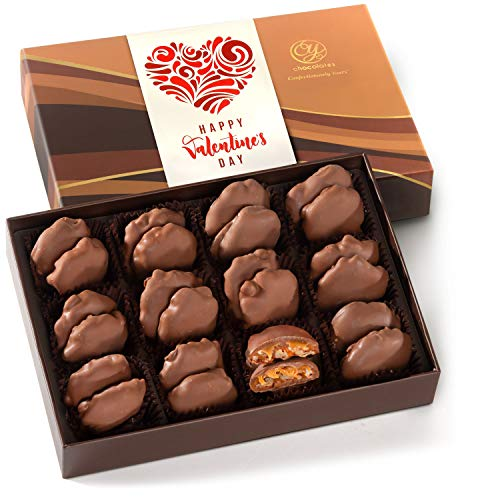 Happy Valentines Day 24 Milk Chocolate Caramel Pecan...