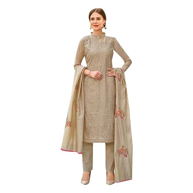 Amazon.com: Vestido de moda Chanderi de seda estilo pantalón ...