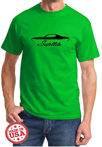 1971-74-plymouth-satellite-classic-outline-design-tshirt-xl-green
