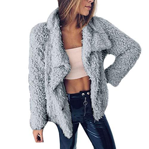 Simayixx Clearance Womens Cardigan Outwear Ladies Warm Lapel Faux Fur Coats Jackets Winter Gradient Sexy Parka Outerwear