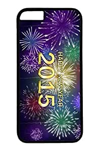 iPhone 6 Plus Case, New Year Fireworks Personalized Slim Protective Hard PC Black Case Cover for Apple iPhone 6 Plus(5.5 inch) Only