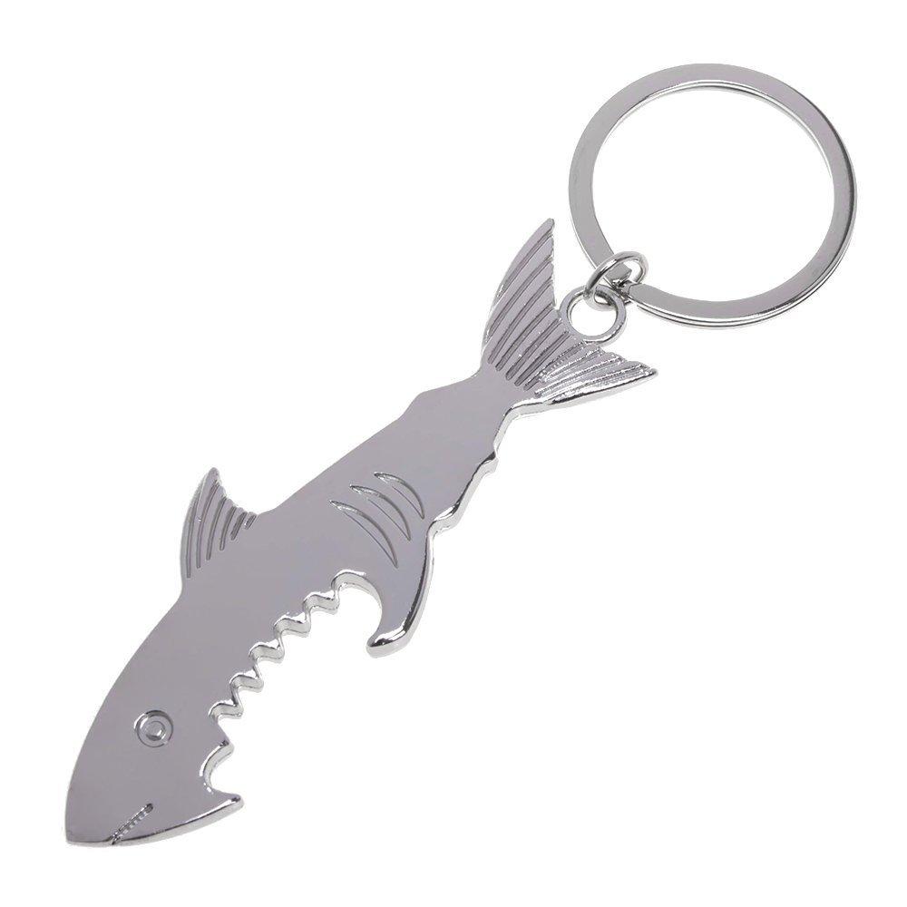 Porte-cl/és en m/étal Requin Ouvre-bouteille de bi/ère