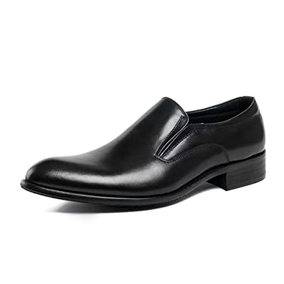 UNbox Mens Formal Loafers Stretch Slip On Leather Dress Shoes