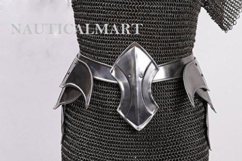 NAUTICALMART LARP Armor Female Armor,Fantasy Costume Warrior Princess Steel Armor for Women: Skirt]()