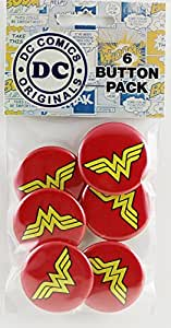 Button set DC Comics Originals Wonder Woman Logo Button (6-Piece), 1.25""