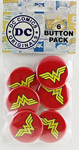 Button set DC Comics Originals Wonder Woman Logo Button (6-Piece), 1.25