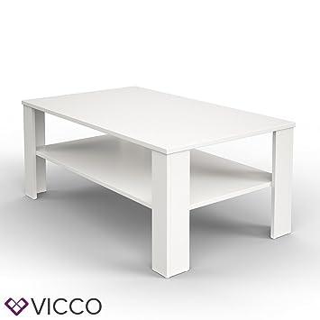 VICCO Couchtisch Weiss 100 X 60 Cm Wohnzimmertisch Beistelltisch Sofatisch Kaffeetisch
