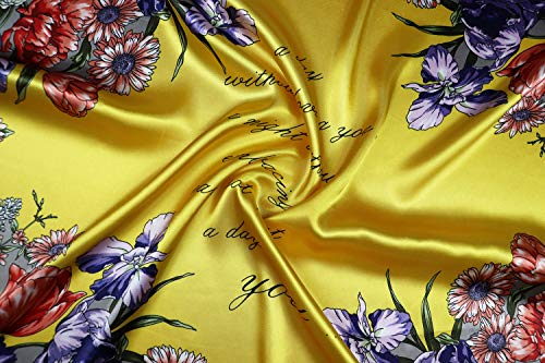 """Vabovin 35"""" Women's Silk Like Scarf Large Square Satin Headscarf Fashion Pattern Hair scarves and wraps"""