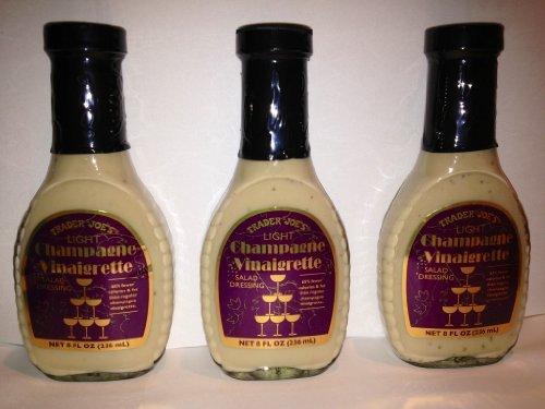 Trader Joe's Light Champagne Vinaigrette Salad Dressing (Pack of 3) - Dressing Vinaigrette Wine
