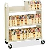 BREL330 - Bretford Steel Slant Shelf Single-Sided Book Cart/Stand