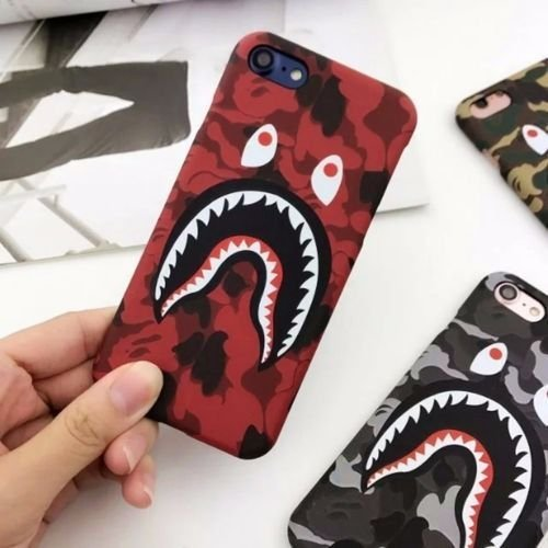 Keklle iPhone 7/8 Case, Urban Camo Street Fashion Slim Durable Hard Case for iPhone 7 & 8 (Red) ()