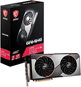 MSI Gaming Radeon RX 5700 256-bit 8GB GDRR6 HDMI/DP HDCP Support DirectX 12 Dual Fan VR Ready Navi Architecture OC Graphics Card (RX 5700 Gaming)