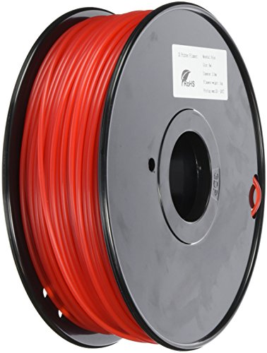 Prima tw-nl300re 3D Filament en nylon, 3 mm, bobine 1 kg, Rouge