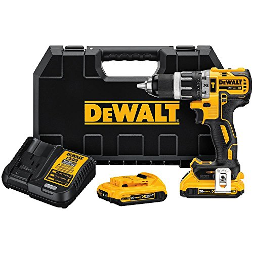DEWALT DCD796D2 20V MAX XR Li-Ion 0.5″ 2.0Ah Compact Hammer Drill Kit For Sale