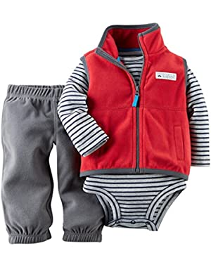 Carter's Baby Boys' 3 Piece Fleece Vest Set (Baby)