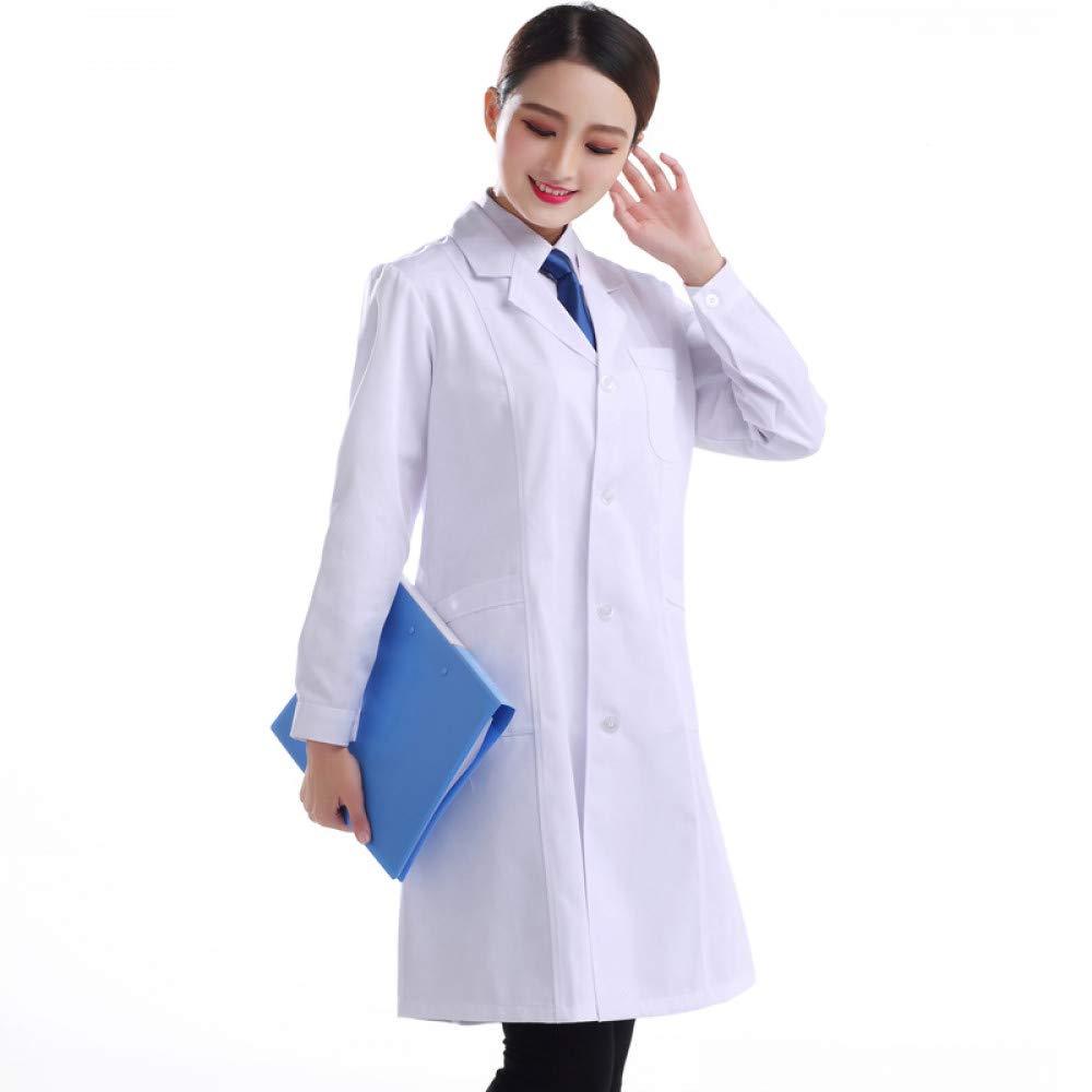 ESENHUANG Ropa Médica De Las Mujeres Hombre Hospital Lab Coat Uniforms White Long-Sleeved Traje Collar Ropa Médica para Hombres Ropa Médica: Amazon.es: Ropa ...